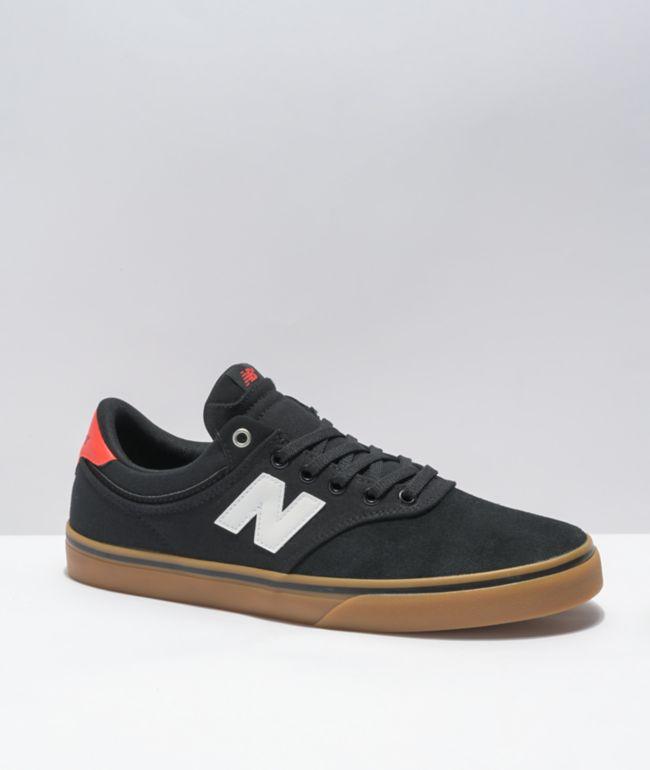 New Balance Numeric 255 Black & Gum Skate Shoes