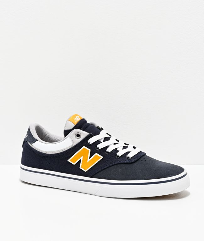 New Balance Numeric 255 Navy & Gold Skate Shoes