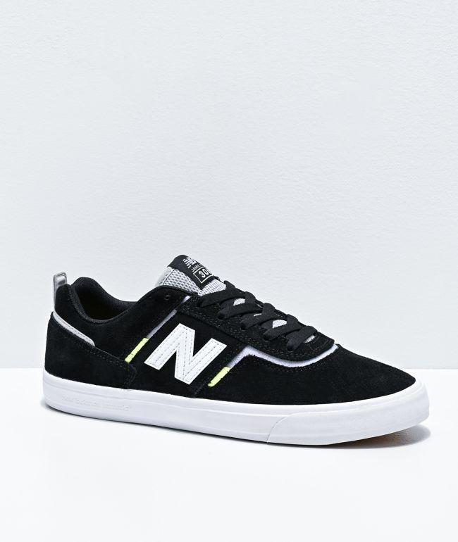 New Balance Numeric 306 Foy Black, White & Neon Green Skate Shoes