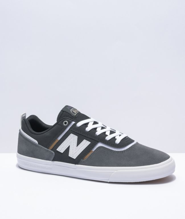 New Balance Numeric 306 Foy Grey, Black, & White Skate Shoes