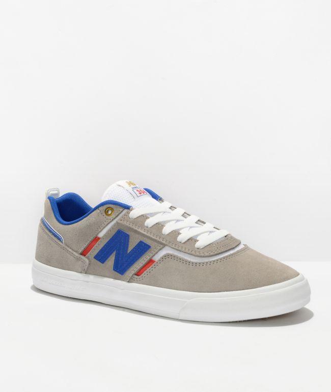 New Balance Numeric 306 Foy Grey, Blue & White Skate Shoes