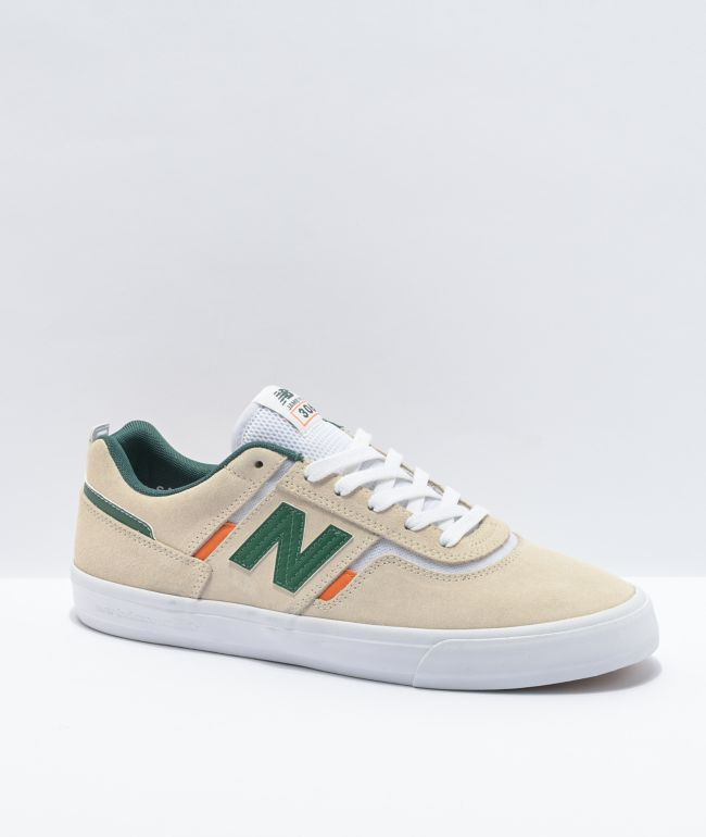 New Balance Numeric 306 Jamie Foy Cream & Green Skate Shoes