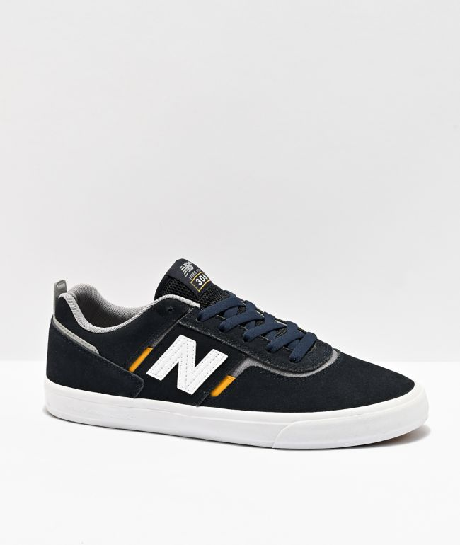 New Balance Numeric 306 Jamie Foy Navy & Yellow Skate Shoes