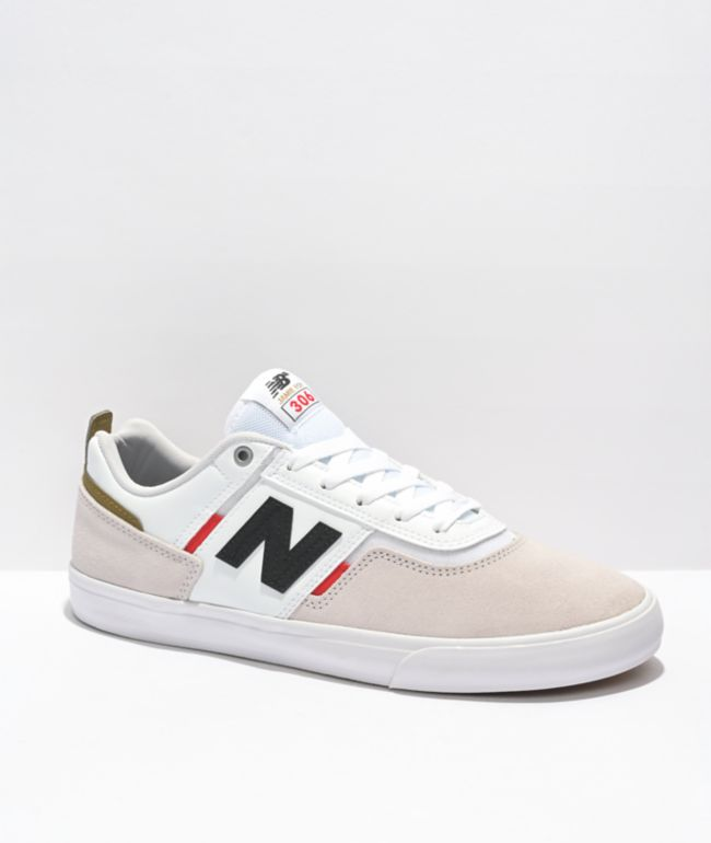 New Balance Numeric 306 Jamie Foy White, Red & Blue Skate Shoes