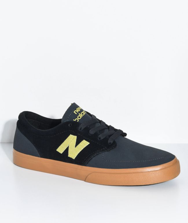 New Balance Numeric 345 Black, Yellow & Gum Shoes