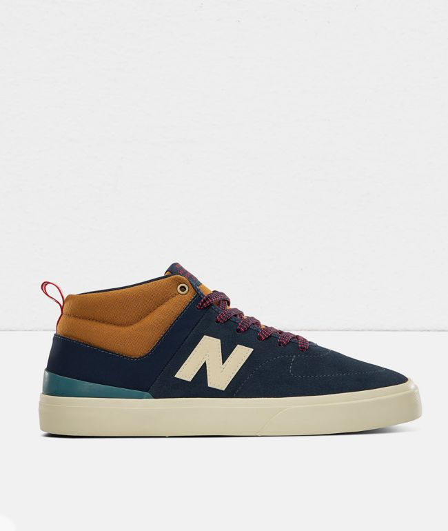 New Balance Numeric 379 Mid Navy & Brown Skate Shoes