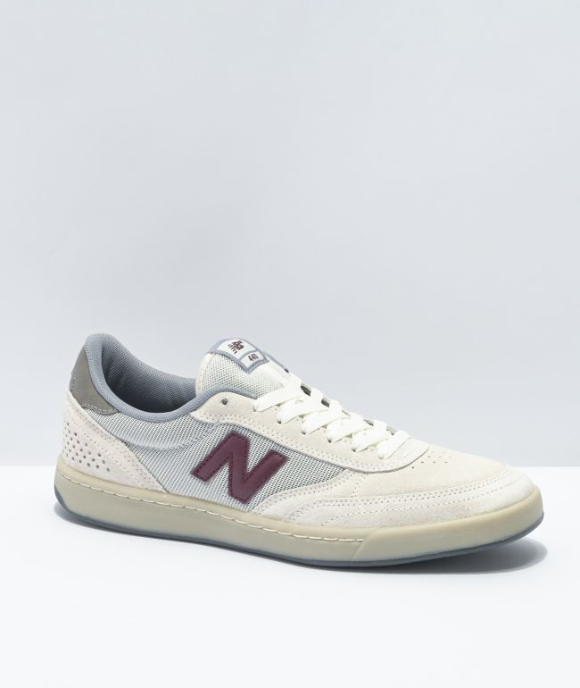New Balance Numeric 440 Sea Salt & Burgundy Skate Shoes