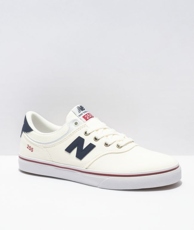 New Balance Numeric Boys 255 White, Blue & Red Skate Shoes