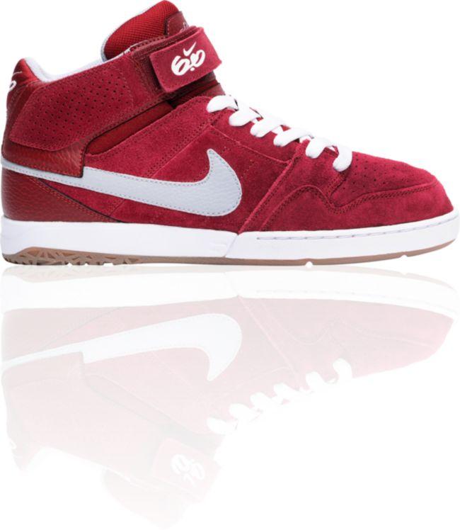 Posteridad eximir habilidad  Nike 6.0 Air Mogan Mid 2 Red, White & Grey Shoes | Zumiez