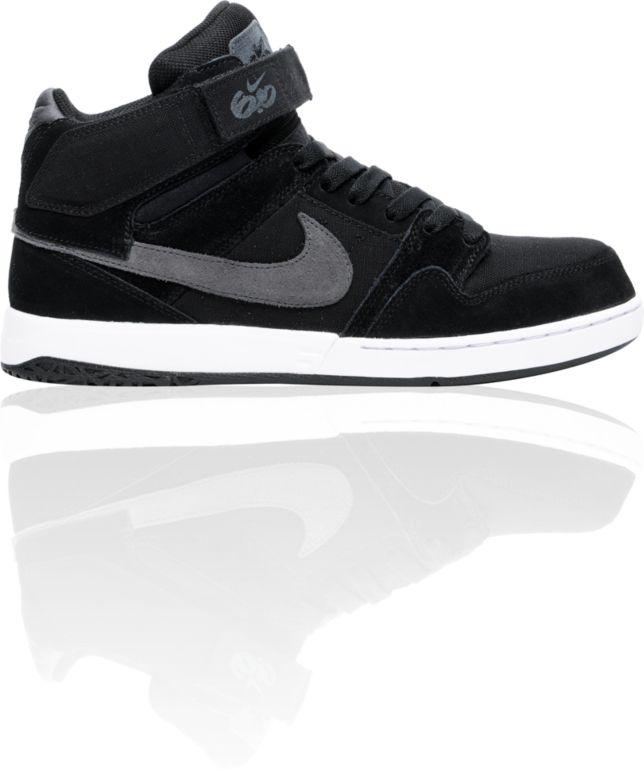 Arado Tanzania margen  Nike 6.0 Zoom Mogan Mid 2 Black, Grey, & White Shoes | Zumiez