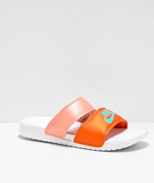 Nike Benassi Duo Ultra Pink \u0026 Orange