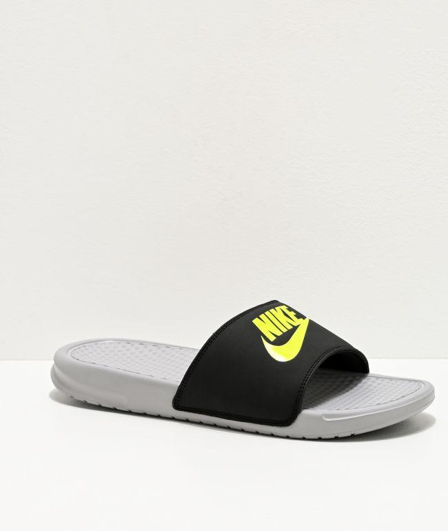 Nike Benassi JDI Wolf Grey, Volt \u0026