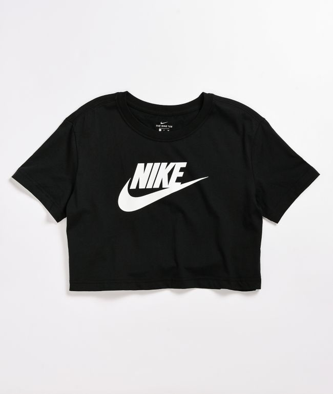Nike Essential Black Crop T-Shirt
