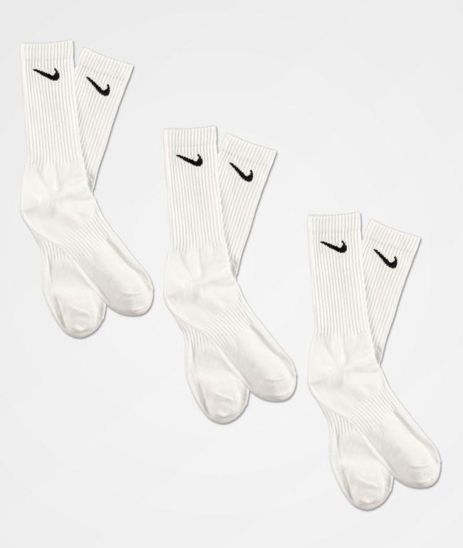 Nike Everyday paquete de 3 calcetines blancos