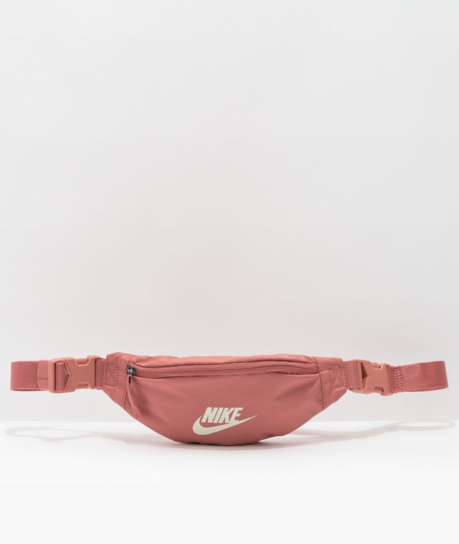 Nike Heritage Pink & White Fanny Pack