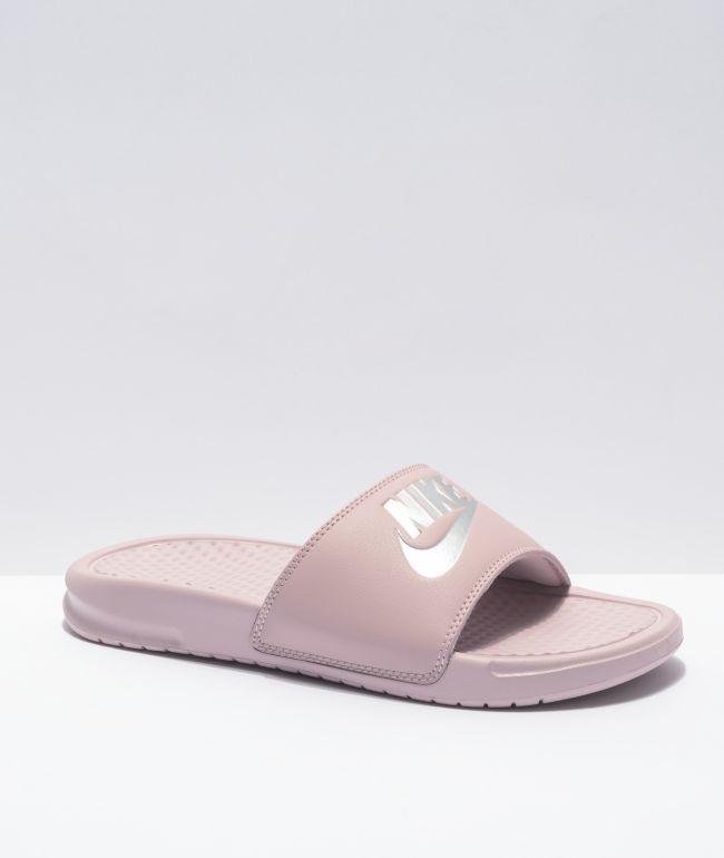 Nike SB Benassi JDI Particle Rose Slide Sandals