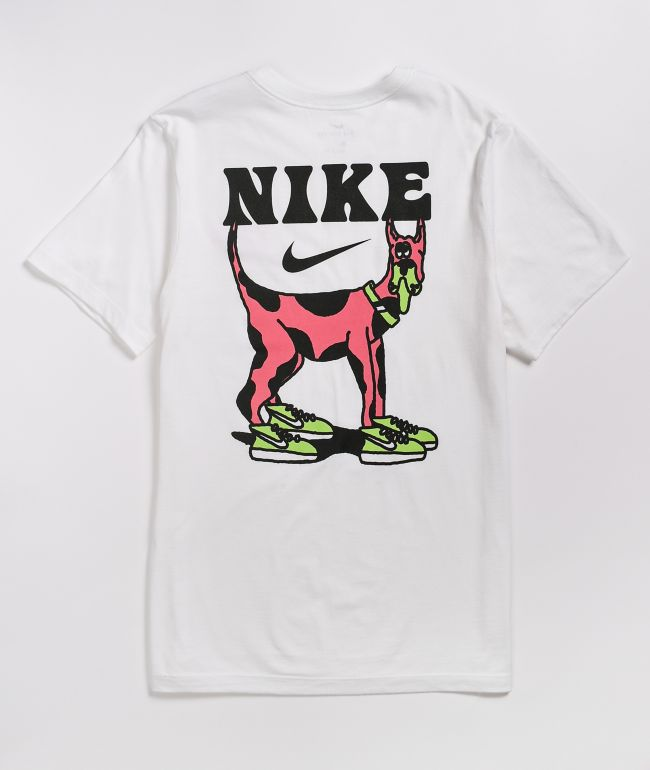 Nike SB Big Dog White & Pink T-Shirt
