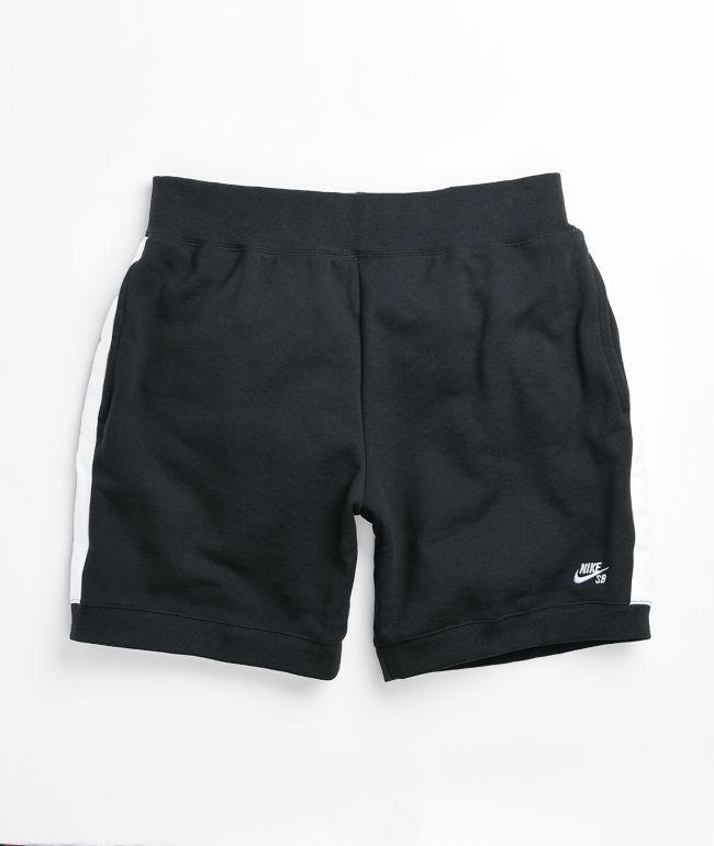 Nike SB Black & White Fleece Sweat Shorts