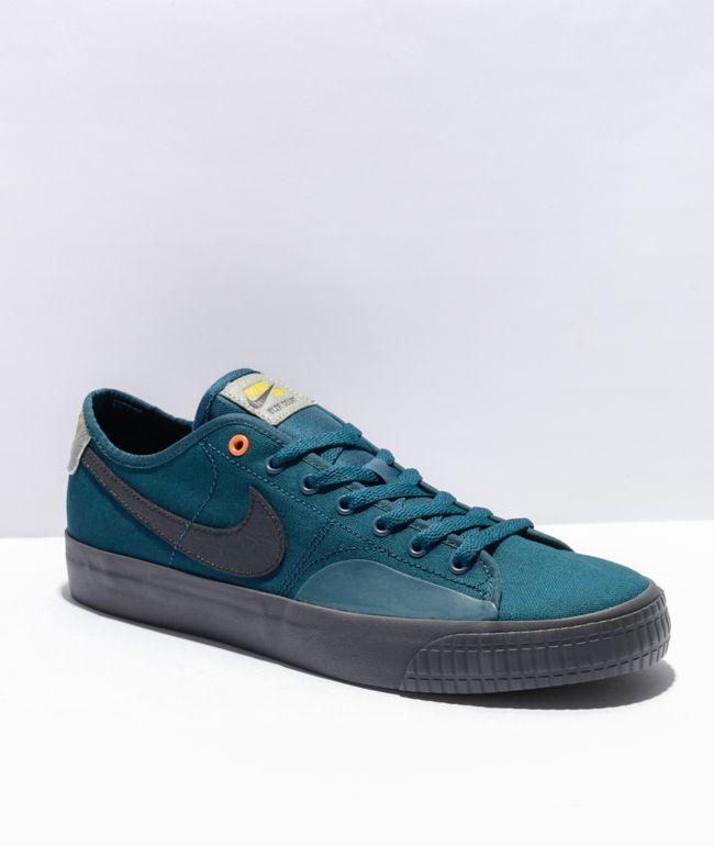 Nike SB Blazer Court DVDL Midnight Turquoise Skate Shoes