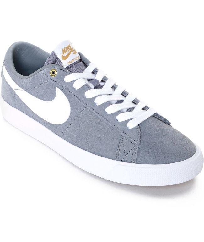 Nike SB Blazer Low GT Grey \u0026 White