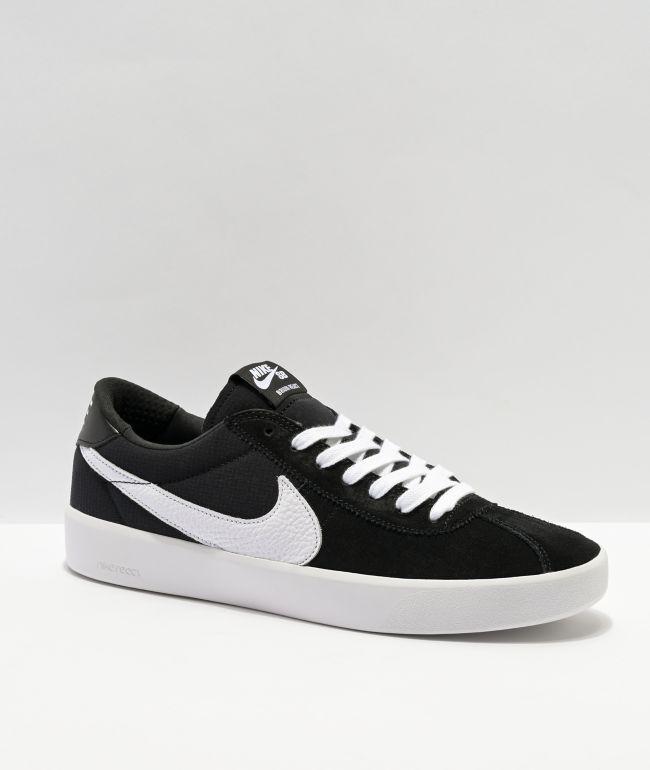 Nike SB Bruin React Black & White Skate Shoe