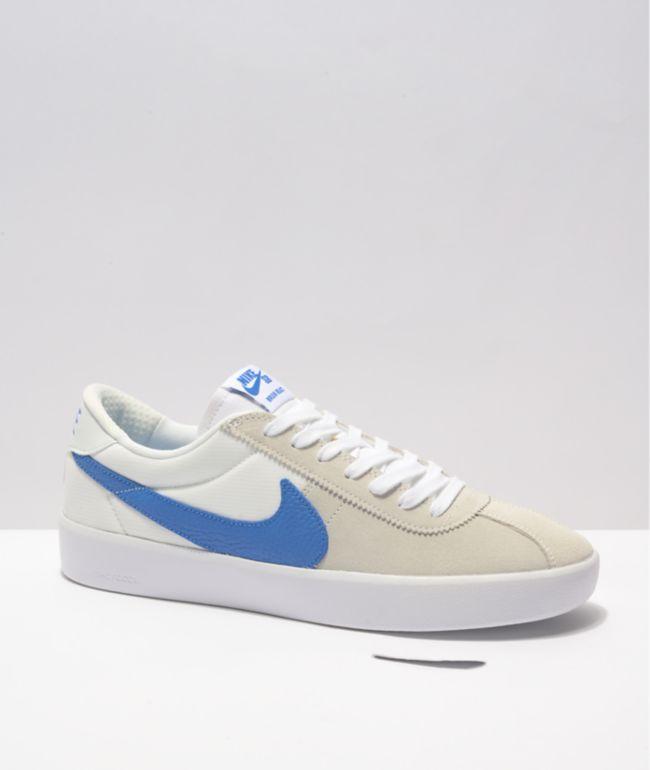 Nike SB Bruin React Summit White & Blue Skate Shoes