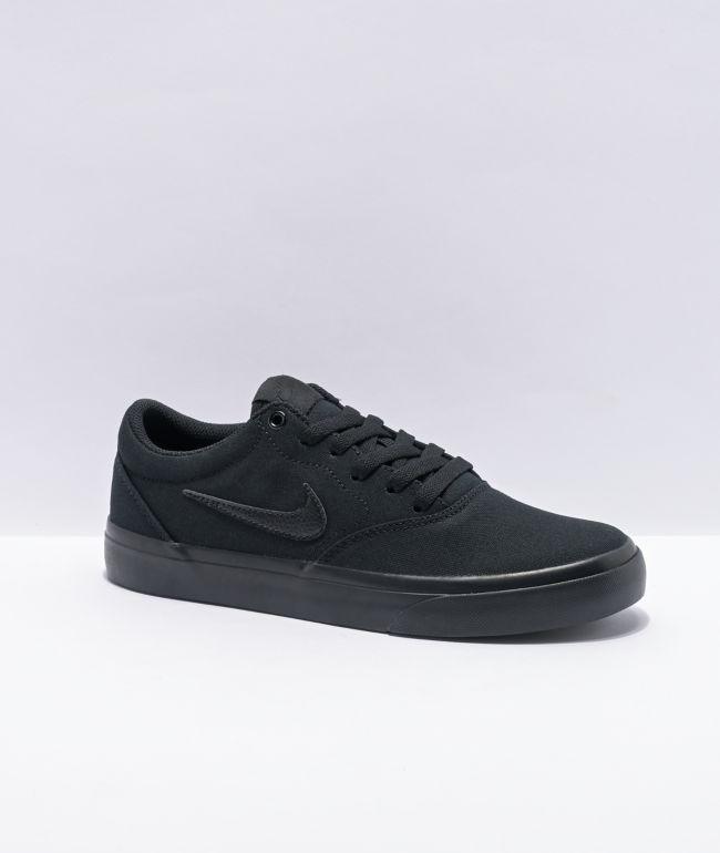Nike SB Charge Kids All Black Skate Shoes