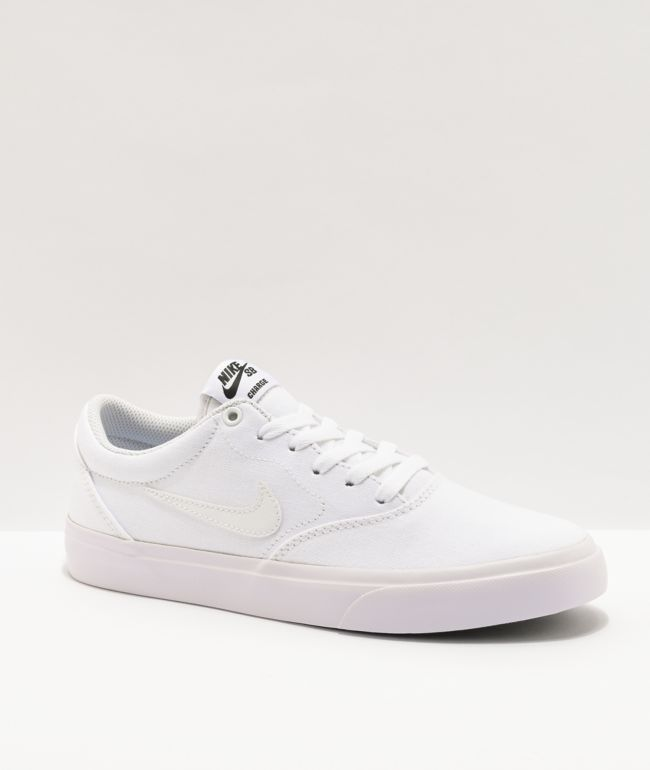 Nike SB Charge White Skate Shoes