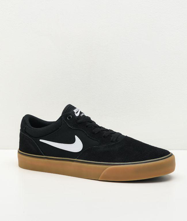 Nike SB Chron 2 Black & Gum Skate Shoes