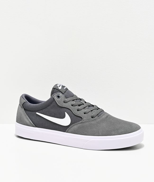 Nike SB Chron SLR Dark Grey & White Skate Shoes