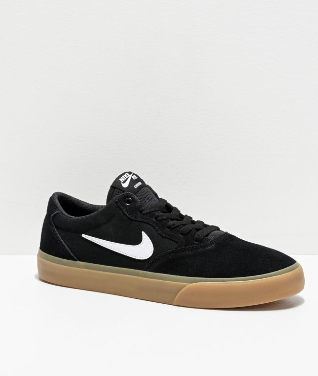 puñetazo servilleta eximir  Nike SB Chron zapatos de skate en negro y goma | Zumiez