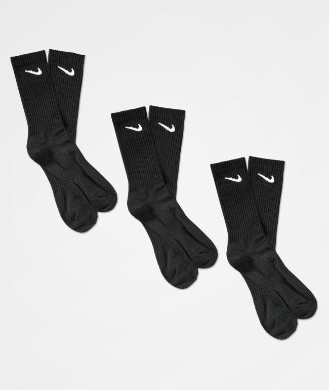 Nike SB Everyday Lightweight Black 3 Pack Crew Socks