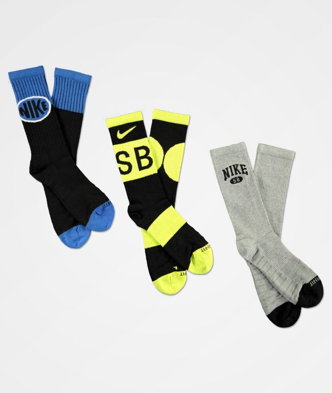 Nike SB Everyday March Radness 3 Pack Crew Socks