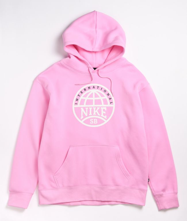 Nike SB Graphic Pink & White Hoodie