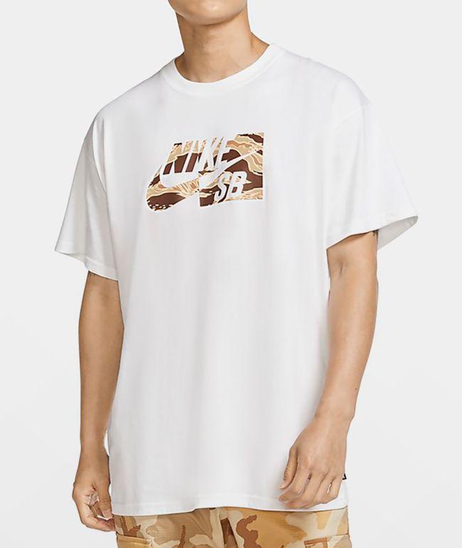 Nike SB HBR White & Camo T-Shirt