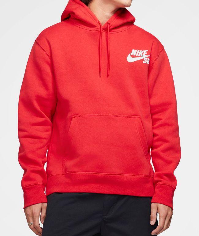 Nike SB Icon University Red Hoodie