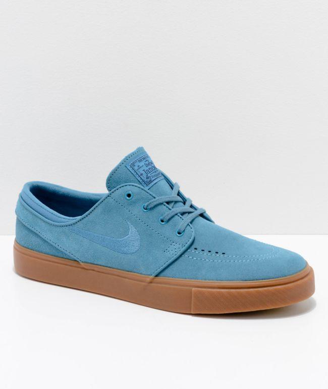 Nike SB Janoski Blue \u0026 Gum Suede Skate