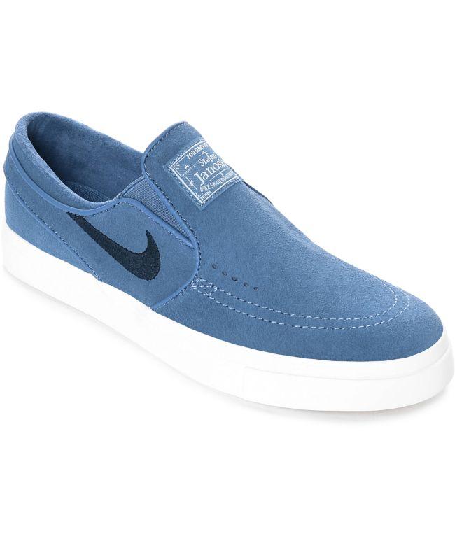 Nike SB Janoski Blue Moon Suede Slip On Women's Skate Shoes