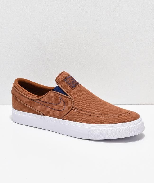 tan slip on shoes