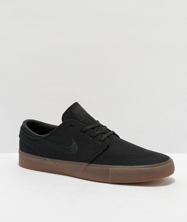 Nike SB Janoski RM Canvas Black & Gum Skate Shoes