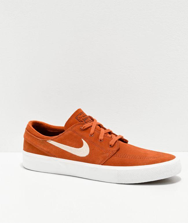 Nike SB Janoski RM Dark Russet & Desert Sand Skate Shoes