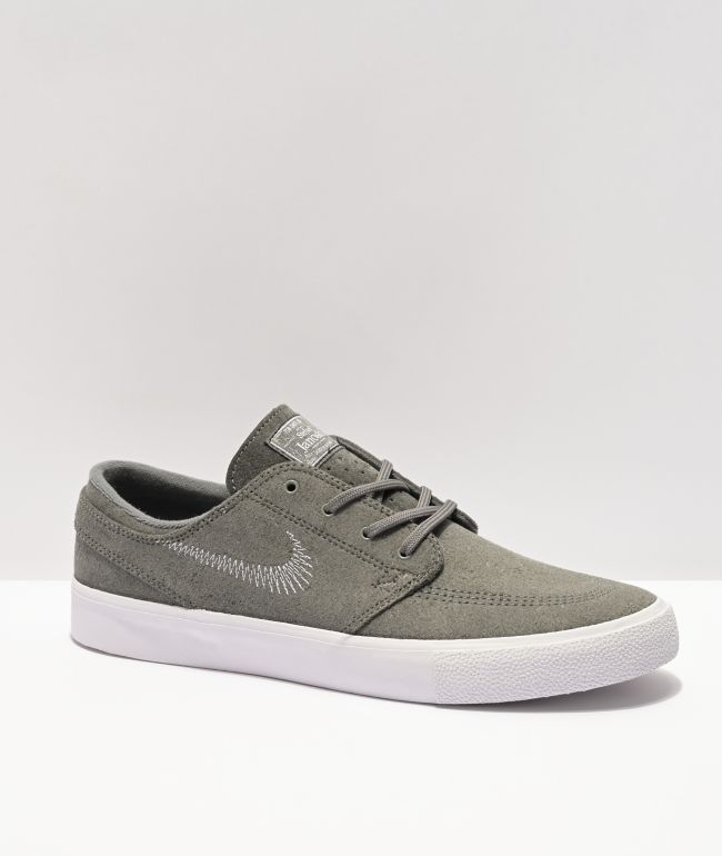 Nike SB Janoski RM Flyleather Grey & White Skate Shoes