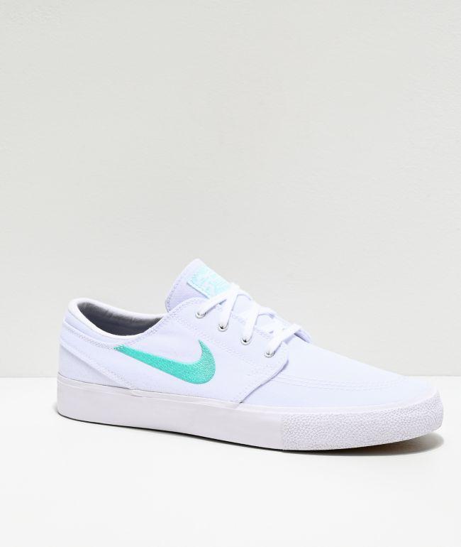 Nike SB Janoski RM White & Tropical Canvas Skate Shoes