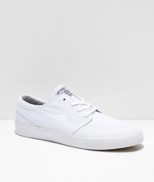 Nike SB Janoski RM White Canvas Skate Shoes
