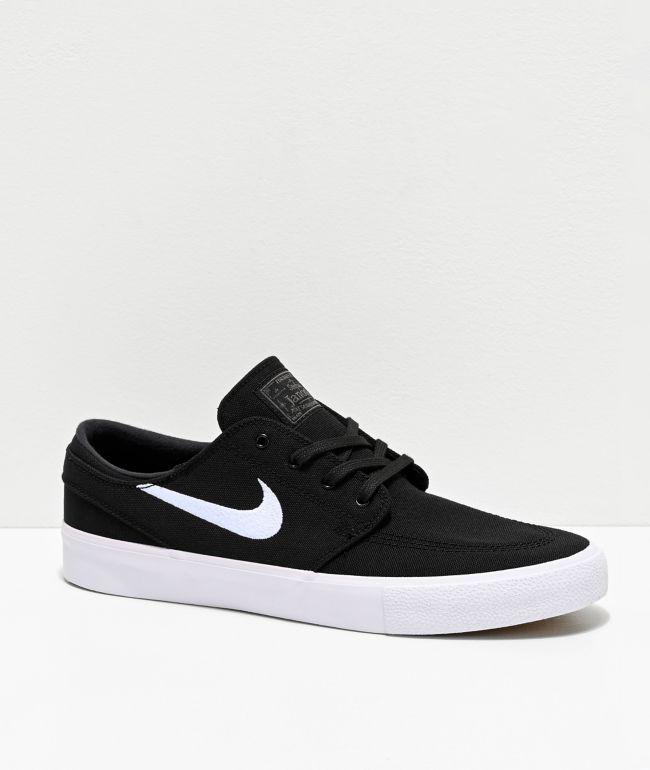 Nike SB Janoski RM zapatos de skate de lienzo negro y blanco