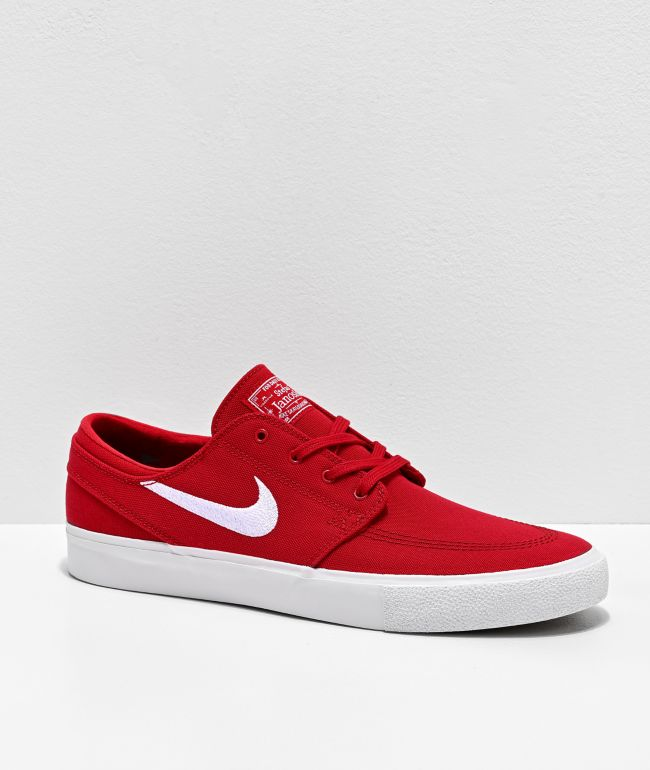 Nike SB Janoski Red \u0026 White Canvas