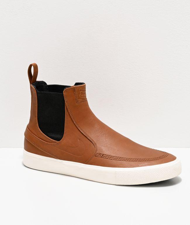 Nike Sb Janoski Slip Mid Rm Tan White Skate Shoes Zumiez