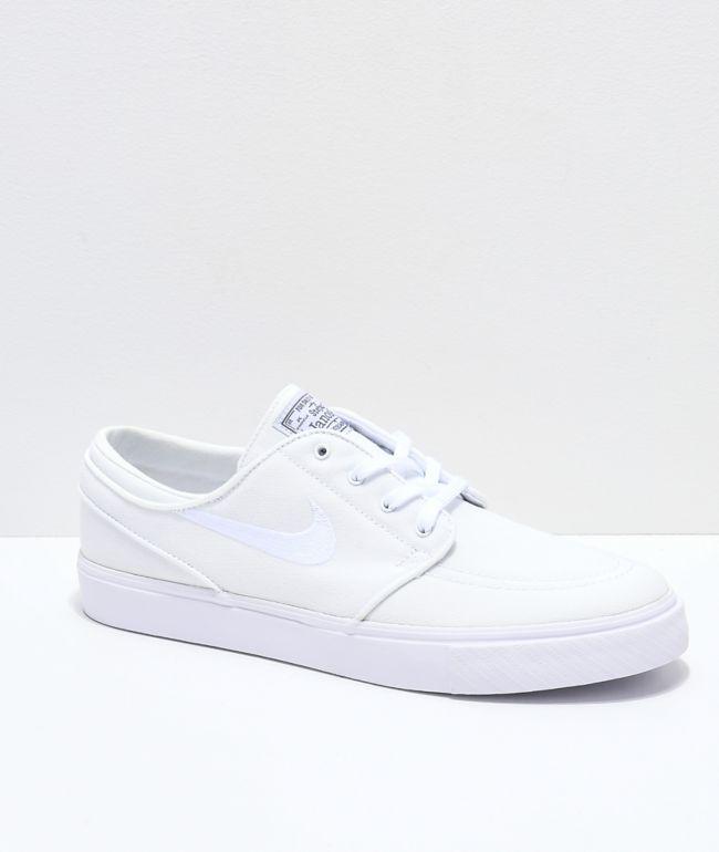 Nike SB Janoski White Canvas Skate