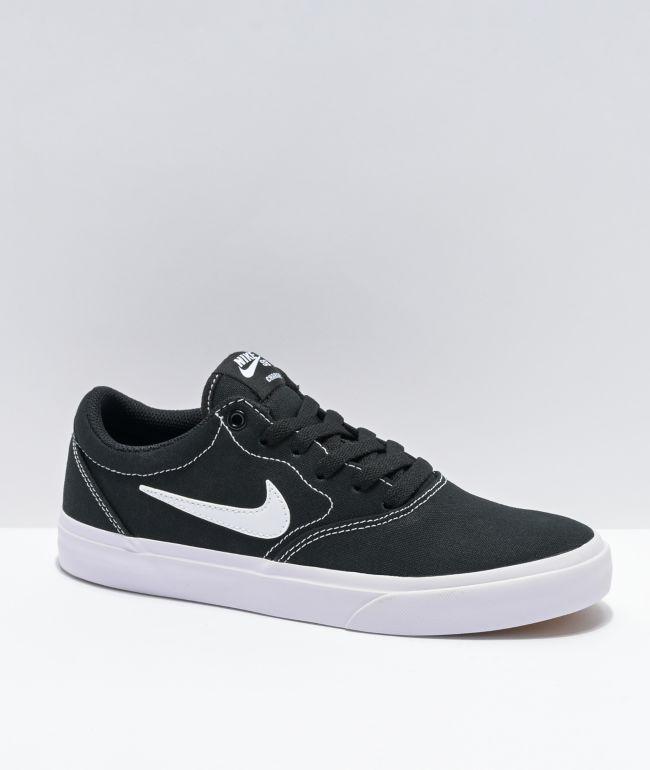 Nike SB Kids Charge Black, White, & Gum Skate Shoes