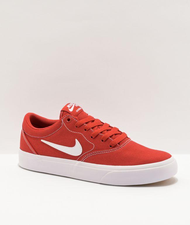 Nike SB Kids Charge Red Skate Shoes